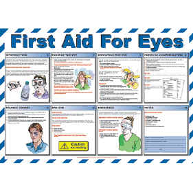 First AId for Eyes chart - from Signs & Plastic Products Ltd.