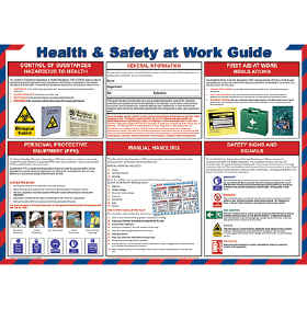 Health & Safety at Work guide chart - from Signs & Plastic Products Ltd.