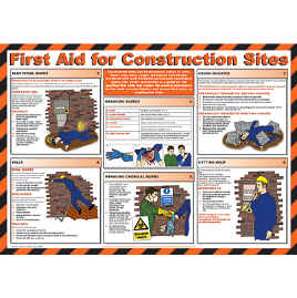First Aid for Construction Sites chart - from Signs & Plastic Products Ltd.