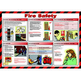 Fire Safety chart - from Signs & Plastic Products Ltd.