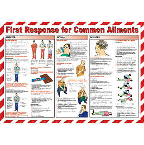 First Response for Common Ailments chart - from Signs & Plastic Products Ltd.