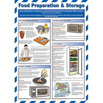 Food Preparation & Hygiene chart - from Signs & Plastic Products Ltd.